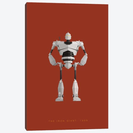 The Iron Giant Canvas Print #FBI146} by Fred Birchal Canvas Art