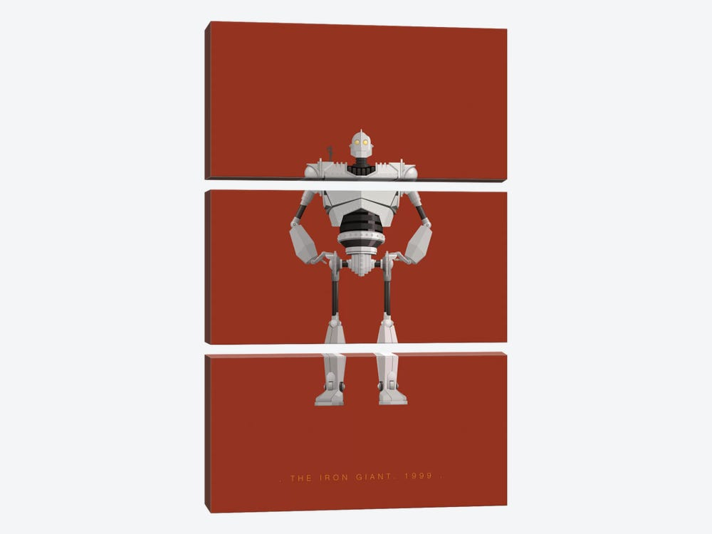 The Iron Giant by Fred Birchal 3-piece Canvas Art