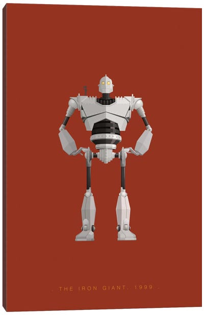 Famous Robots Series: The Iron Giant Canvas Print #FBI146