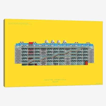 Centre Pompidou Canvas Print #FBI148} by Fred Birchal Art Print