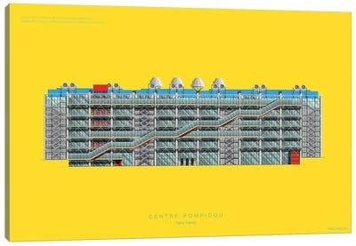Museums Of The World Series: Centre Pompidou Canvas Print #FBI148