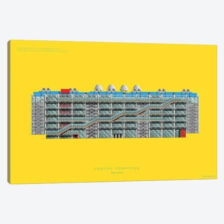 Centre Pompidou Canvas Print #FBI148} by Fred Birchal Art Print