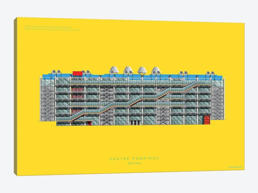 Centre Pompidou by Fred Birchal 1-piece Canvas Artwork