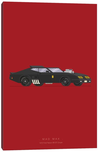 Famous Cars Series: Mad Max Canvas Art Print