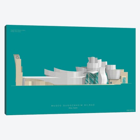 Guggenheim Museum Bilbao Canvas Print #FBI151} by Fred Birchal Canvas Wall Art