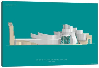 Museums Of The World Series: Guggenheim Museum Bilbao Canvas Art Print