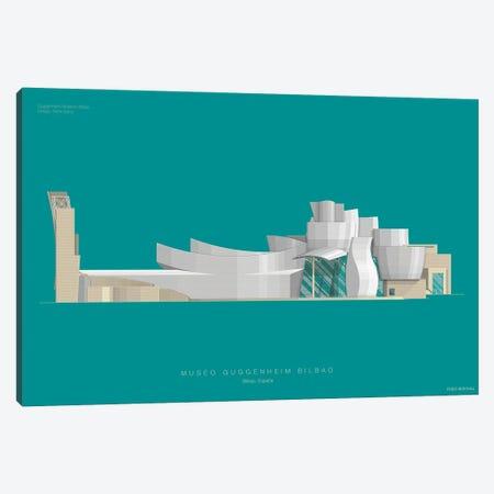 Guggenheim Museum Bilbao Canvas Print #FBI151} by Fred Birchal Canvas Wall Art