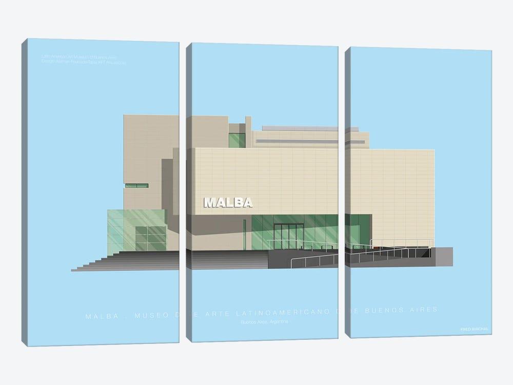 Museo de Arte Latinoamericano de Buenos Aires (MALBA) by Fred Birchal 3-piece Canvas Print