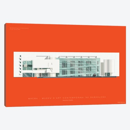 Museu d'Art Contemporani de Barcelona (MACBA) Canvas Print #FBI153} by Fred Birchal Canvas Wall Art