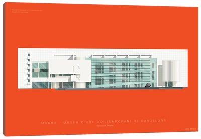 Museums Of The World Series: Museu d'Art Contemporani de Barcelona (MACBA) Canvas Print #FBI153