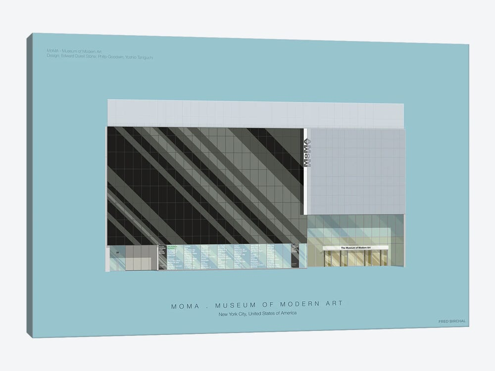 Museum Of Modern Art by Fred Birchal 1-piece Canvas Art Print