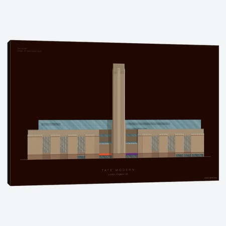 Tate Modern Canvas Print #FBI156} by Fred Birchal Canvas Art Print