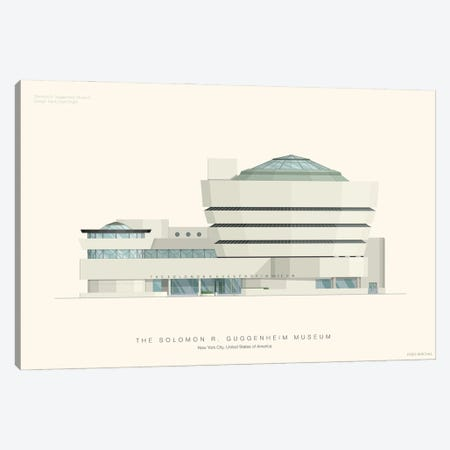 The Solomon R. Guggenheim Museum Canvas Print #FBI157} by Fred Birchal Canvas Print