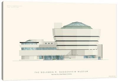 Museums Of The World Series: The Solomon R. Guggenheim Museum Canvas Print #FBI157