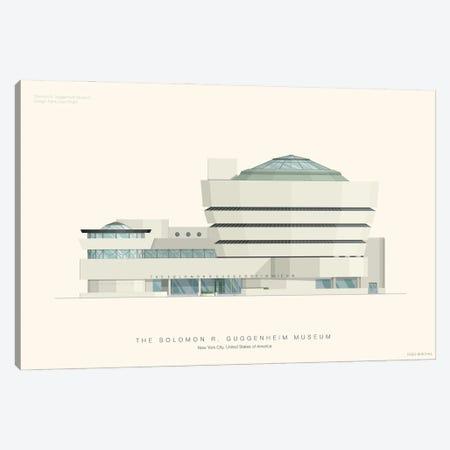 The Solomon R. Guggenheim Museum Canvas Print #FBI157} by Fred Birchal Canvas Print