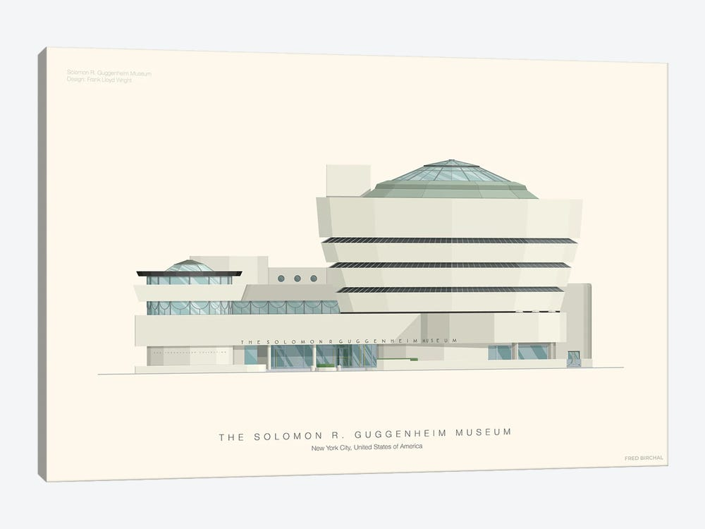 The Solomon R. Guggenheim Museum by Fred Birchal 1-piece Canvas Art