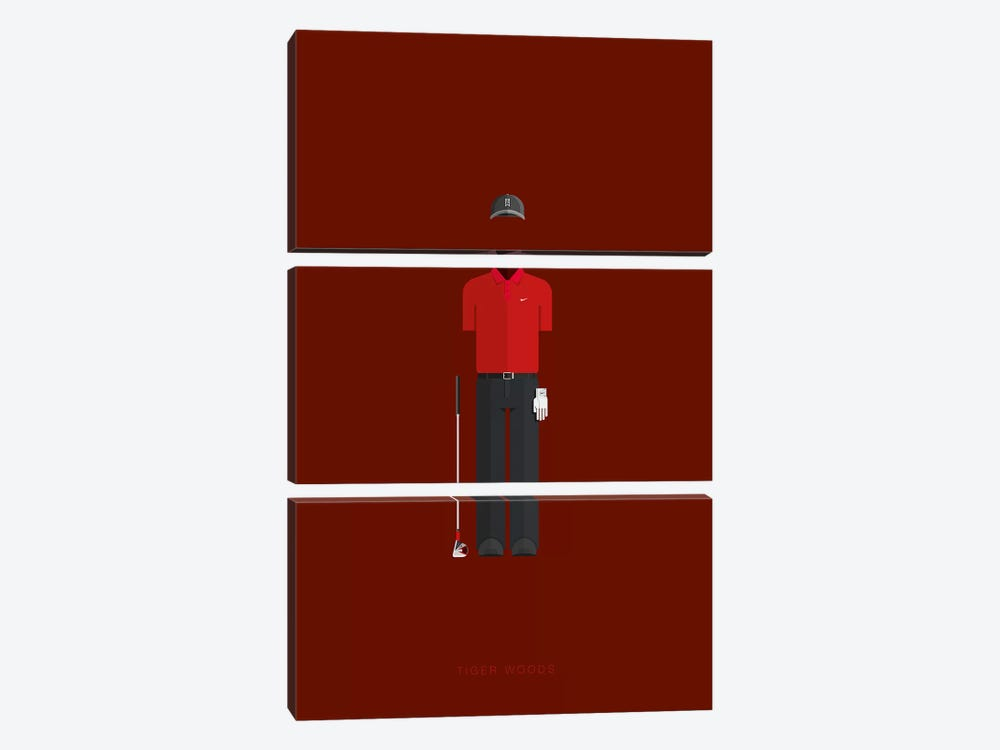 Tiger Woods by Fred Birchal 3-piece Art Print