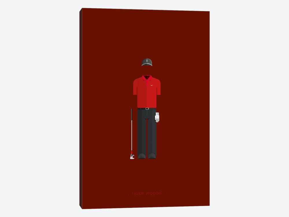 Tiger Woods by Fred Birchal 1-piece Canvas Print