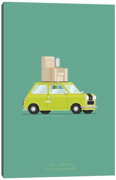 Famous Cars Series: Mr. Bean Canvas Art Print