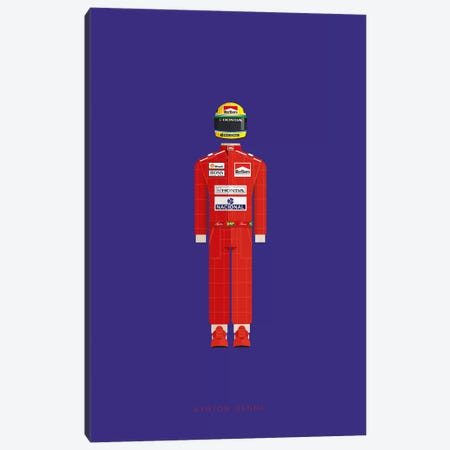 Ayrton Senna Canvas Print #FBI161} by Fred Birchal Art Print