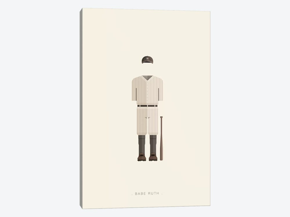 Babe Ruth by Fred Birchal 1-piece Canvas Art Print