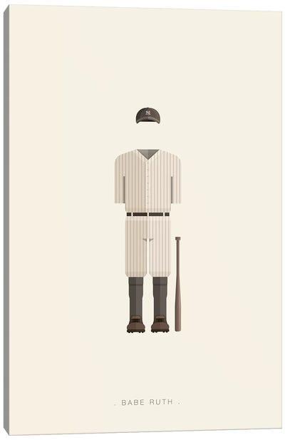 Sports Legends Series: Babe Ruth Canvas Print #FBI163