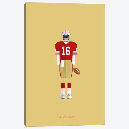 Joe Montana Canvas Print #FBI165} by Fred Birchal Canvas Wall Art