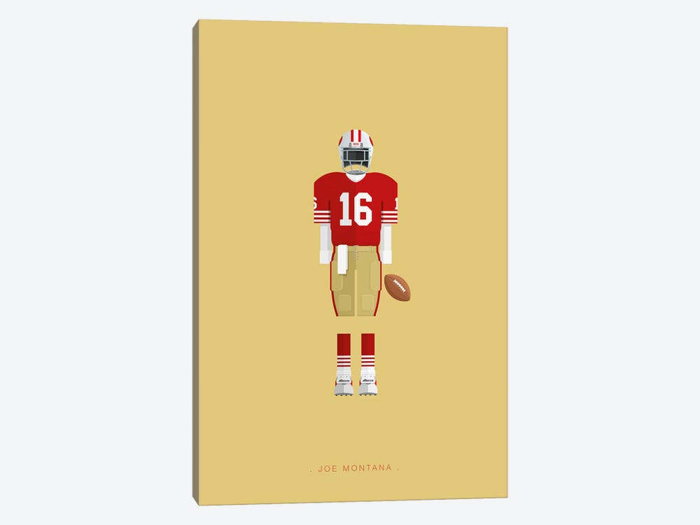 Joe Montana by Fred Birchal 1-piece Canvas Print