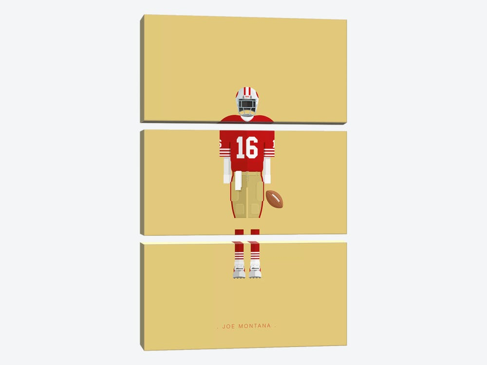 Joe Montana 3-piece Canvas Print
