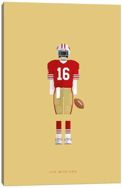 Joe Montana Canvas Art Print