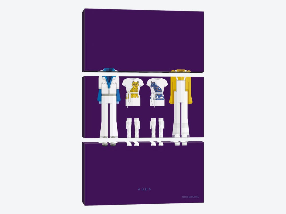 ABBA by Fred Birchal 3-piece Canvas Print