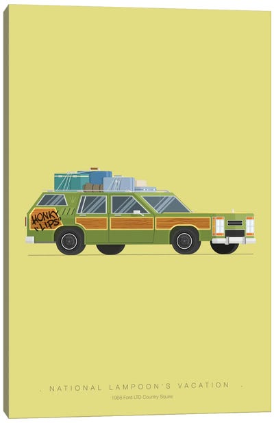 Famous Cars Series: National Lampoon's Vacation Canvas Print #FBI16