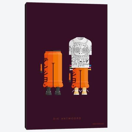 Die Antwoord Canvas Print #FBI176} by Fred Birchal Canvas Art Print