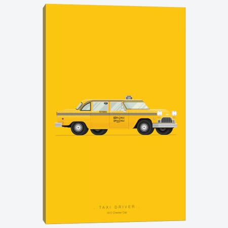 Taxi Driver Canvas Print #FBI17} by Fred Birchal Canvas Art Print