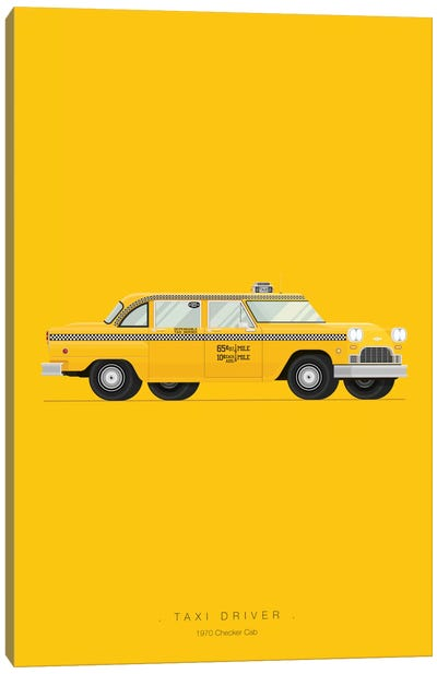 Famous Cars Series: Taxi Driver Canvas Print #FBI17