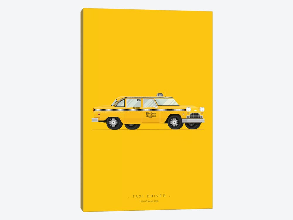 Taxi Driver by Fred Birchal 1-piece Canvas Artwork