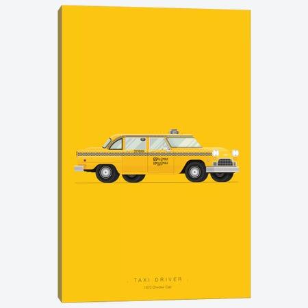 Taxi Driver Canvas Print #FBI17} by Fred Birchal Canvas Art Print
