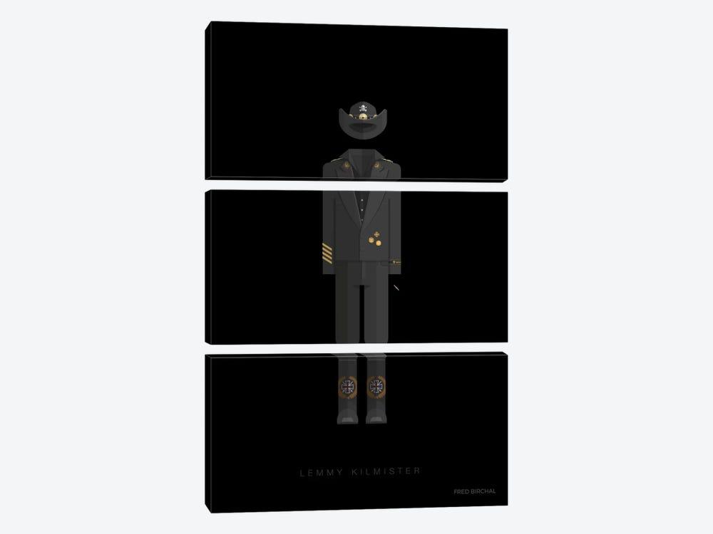 Lemmy Kilmister by Fred Birchal 3-piece Canvas Wall Art