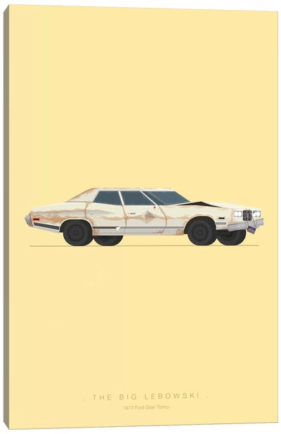 Famous Cars Series: The Big Lebowski Canvas Print #FBI18
