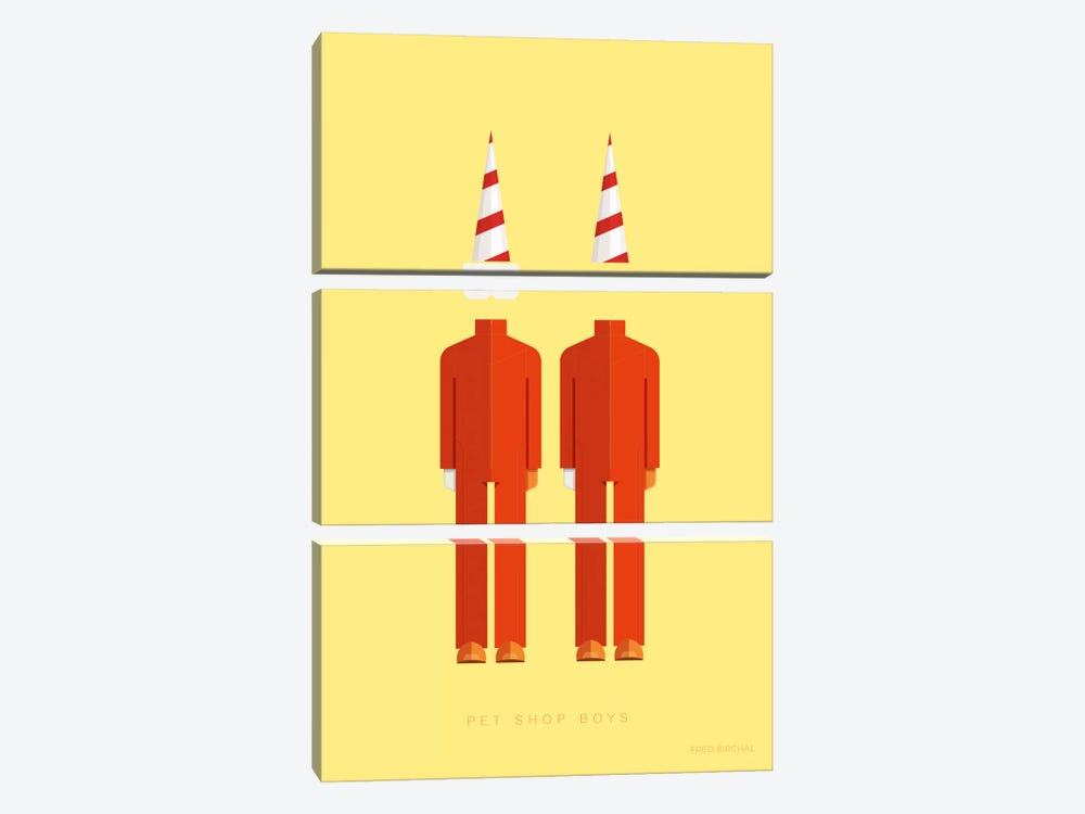 Pet Shop Boys by Fred Birchal 3-piece Canvas Print