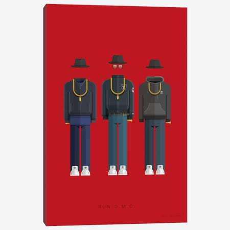 Run-D.M.C. Canvas Print #FBI195} by Fred Birchal Art Print