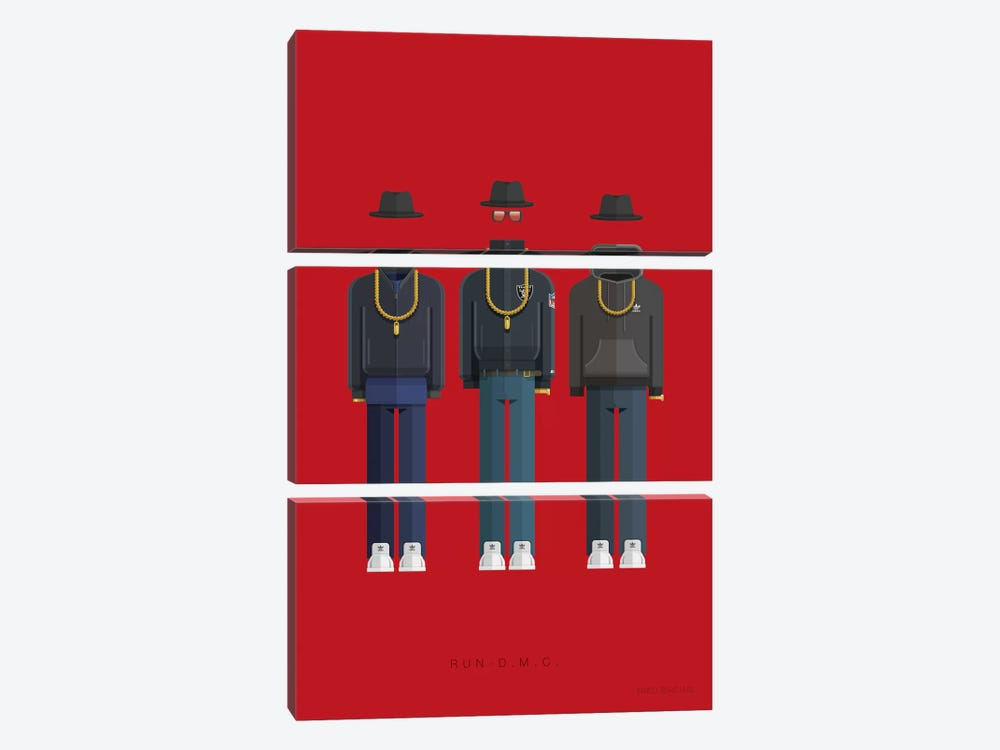 Run-D.M.C. by Fred Birchal 3-piece Canvas Wall Art