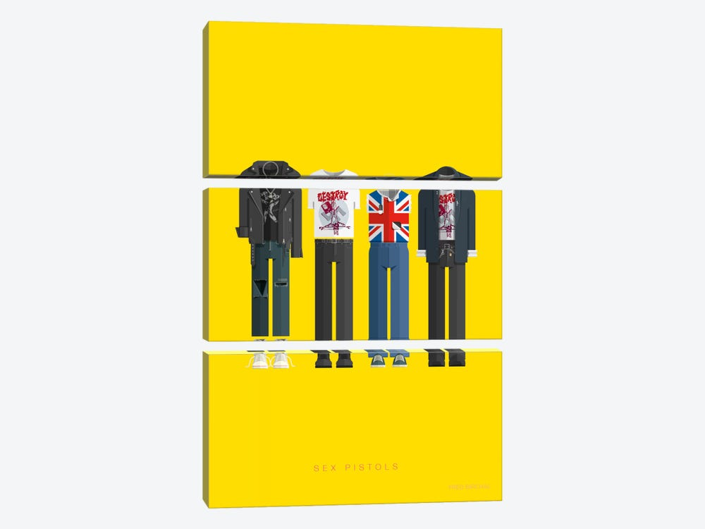 Sex Pistols by Fred Birchal 3-piece Art Print
