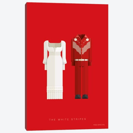 The White Stripes Canvas Print #FBI198} by Fred Birchal Canvas Art