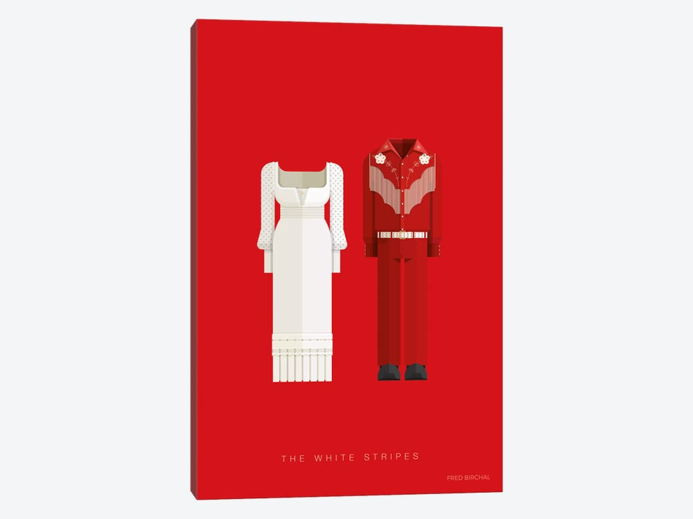 The White Stripes by Fred Birchal 1-piece Art Print