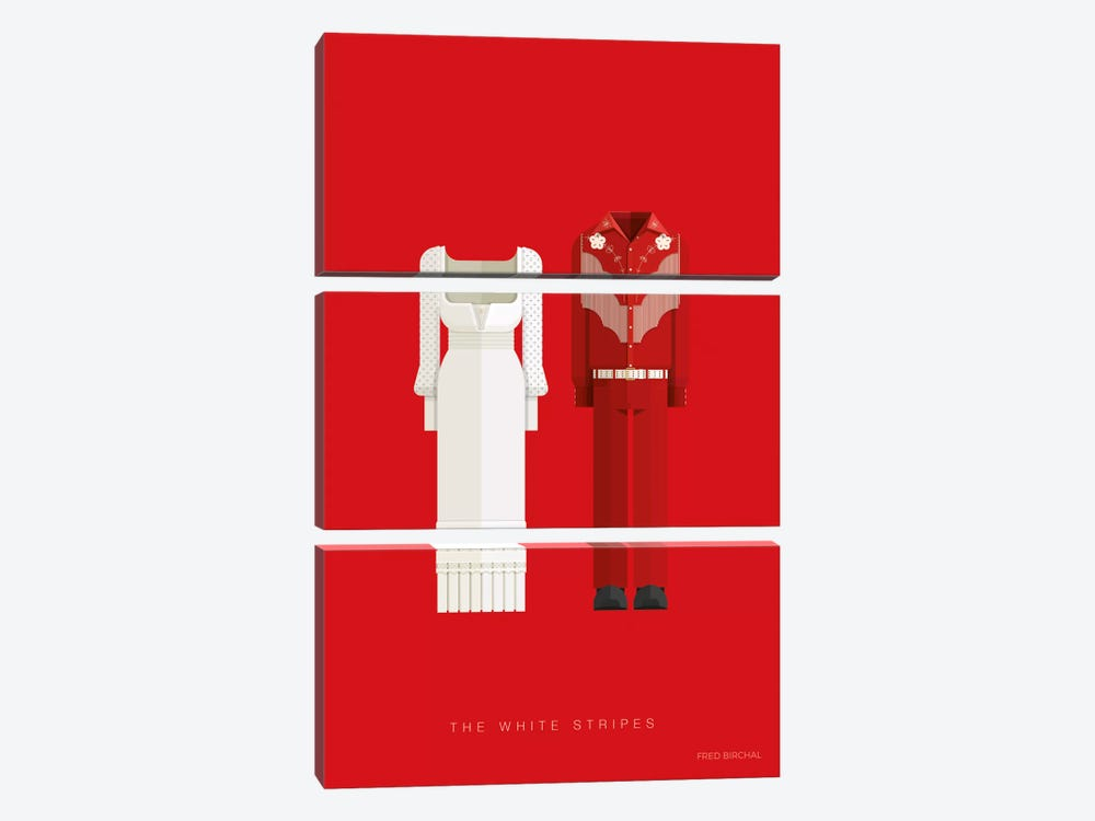 The White Stripes by Fred Birchal 3-piece Canvas Print