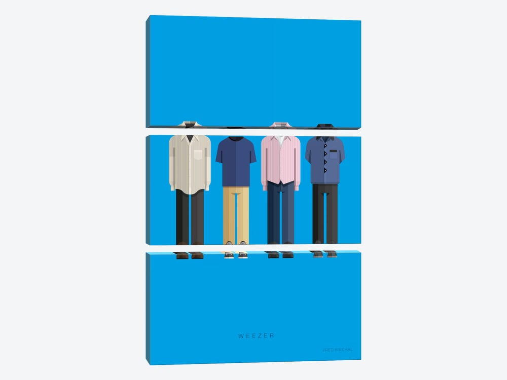Weezer by Fred Birchal 3-piece Canvas Art