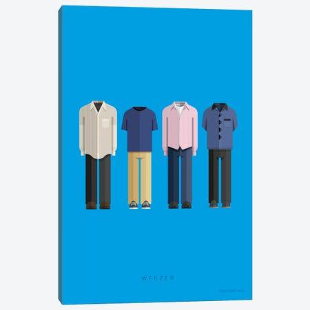 Weezer Canvas Print #FBI199} by Fred Birchal Canvas Wall Art