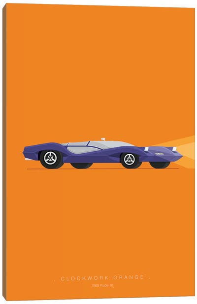 Famous Cars Series: A Clockwork Orange Canvas Print #FBI1