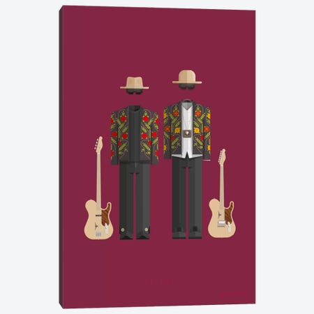 ZZ Top Canvas Print #FBI201} by Fred Birchal Canvas Wall Art
